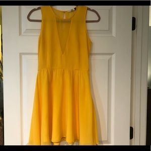 dv dolce & vita yellow mini dress